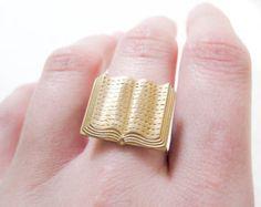 Brass book ring