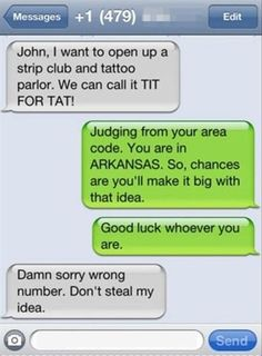 Funny text - wrong number