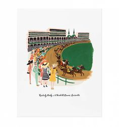 Kentucky Derby Illustrated Art Print // Rifle Paper Co. Kentucky Derby, My Old Kentucky Home, Derby Horse, Watercolor Horse, Horse Posters, New York Christmas, Derby Party, Rifle Paper Co, Design Art