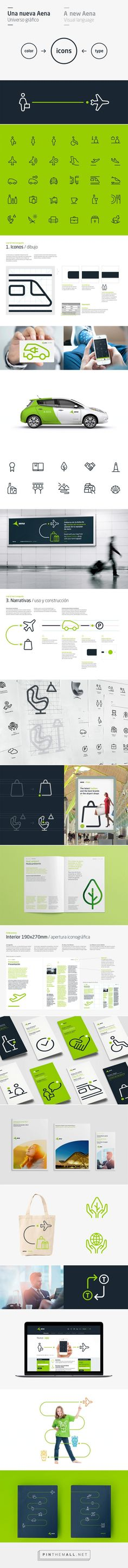 Aena is the world's number one airport operator in terms of passenger traffic | #branding #design