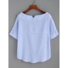 Shop Boat Neckline Striped Blouse With Buttons online. SheIn offers Boat Necklin… Shop Boat Neckline Striped Blouse With Buttons online. SheIn offers Boat Neckline Striped Blouse With Buttons & more to fit your fashionable needs. Sewing Clothes, Diy Clothes, Clothes For Women, Boat Neck Tops, Top Boat, Collar Shirts, Collar Blouse, Tunic Blouse, Woman Outfits