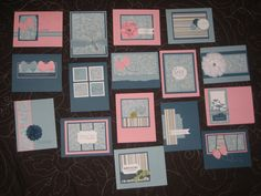 Use one sheet of 12 x 12 Designer Series Paper and you can create 16 beautifully layered cards