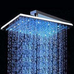 Contemporary 10 inch Brass Color Changing LED Shower Head - HB10F