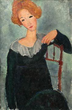 Los cuadernos de Vogli: Amedeo Modigliani. Woman with Red Hair, 1917. The ...