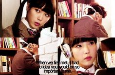 Image via We Heart It #dreamhigh #wooyoung #iu #milkycouple