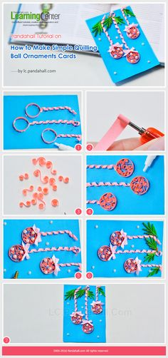 Tutorial on How to Make Simple Quilling Ball Ornaments Cards from LC.Pandahall.com