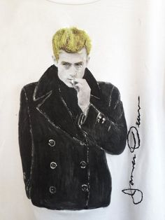 James Dean T-shirt  Painted 3d Old Hollywood