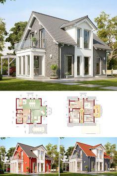 Haus Evolution V Bien Zenker Grundrisse Variante Holz Klinker - Minecraft haus aus holz und stein
