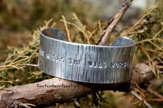 He Rides The Wild Horses - Hand Stamped Cuff Bracelet - Chris LeDoux Inspired Music Lyric Cuff - Cowboy Gift - Rodeo Jewelry - Gift For Him