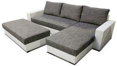 Rohová sedačka Navara L2 je vhodná do menších obývacích izieb. Je dodávaná aj s taburetkou, ktorá cez deň môže slúžiť na sedenie, poprípade vyloženie nôh.