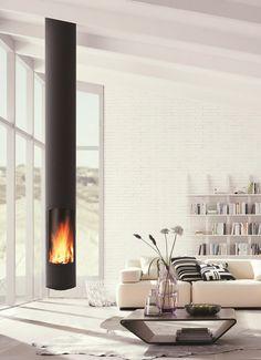 Minimun volume, excellent heat performance: Slimfocus by Focus Cheminees #fireplace