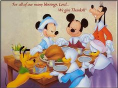 thanksgiving paintings | HAPPY THANKSGIVINGWITH MICKEY and Cie