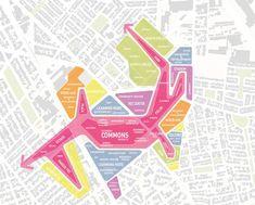 Conceptualization of urban fabric, neighborhood blocks and design programs.