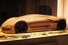 Clay model concept car