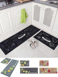 [Visit to Buy] 2Pcs/Set Kitchen Bath Mats Carpet, 15 Colors Anti Slip Large Bathroom Rug, Modern Style Bathroom Mat For Toilet Alfombras #Advertisement