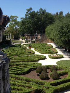 Viscaya Museum gardens, Coral Gables, FL with my buddy, Steve and his expert knowledge.