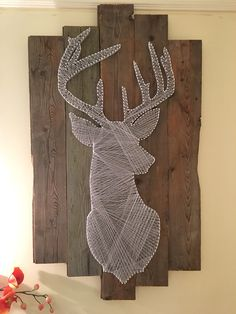 Deer sting art by Camille Deer sting art by CamilleYou can find String art and more on our website.Deer sting art by Camille Deer sting art by Camille String Art Templates, String Art Tutorials, String Art Patterns, Diy Home Crafts, Arts And Crafts, String Art Diy, Geometric Deer, Architectural Sculpture, Thread Art