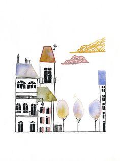 City Illustration by Melanie Vialaneix