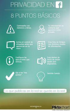 8 puntos básicos de la privacidad en FaceBook #infografia #infographic #socialmedia (repineado por @Pablo Ilde Coraje )
