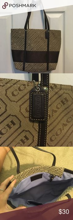 Coach bag Coach bag, also comes with dust bag. The bag is in great condition, looks like it's never been used. There is only a mark on the dust bag Coach Bags Shoulder Bags