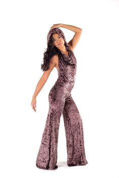 This Crush velvet Warrior Within Onesie with bell bottoms is also called a jumpsuit, body suit, cat suit or jumper.