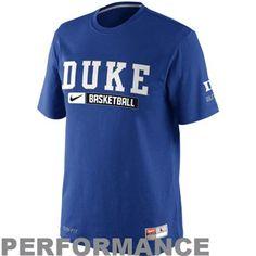 Nike Duke Blue Devils 2012 Team Issued Elite Performance Practice T-Shirt - Duke Blue