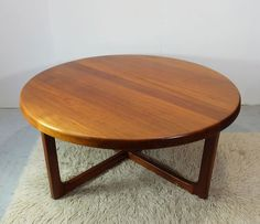 Mid-Century Teak Coffee Table by Niels Bach 1