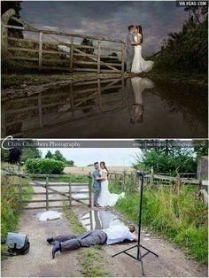Photographer makes puddle look like a lake
