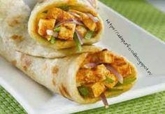 udaipur food channel: PANEER TIKKA KHATI ROLL