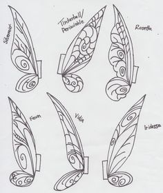 printable fairy wings template   Tinkerbell Clothespin Fairies