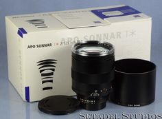 Nikon f/ Carl Zeiss 135mm APO Sonnar F2 ZF.2 T* Black Lens +Cps +Box Mint