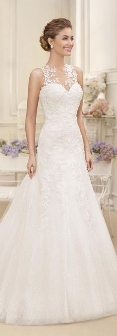Wedding Dress by Fara Sposa 2017 Bridal Collection. A wonderful thought for my renewal ceremony. Possibly...