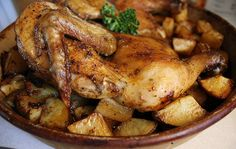Roast Chicken and Potatoes by jasnicmommy, via Flickr