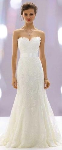A dress that finally doesnt over-power a petite body! Not sure how you feel about lace. I think this is beautiful!