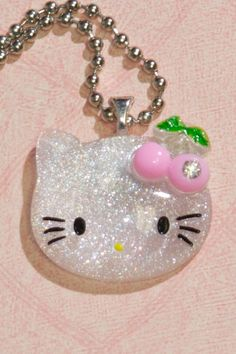 Glitter Hello Kitty Necklace (White) $10.00