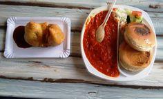 We had Pav Bhaji and Samosa at a resturant ( Popular Indian street food)