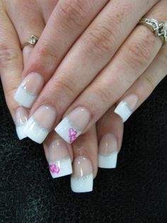 French nails with pink hearts for wedding. Simple but so beautiful. Nail Designs 2014, French Nail Designs, Art Designs, Wedding Day Nails, Bridal Nails, Heart Nail Art, Heart Nails, Love Nails, Fun Nails