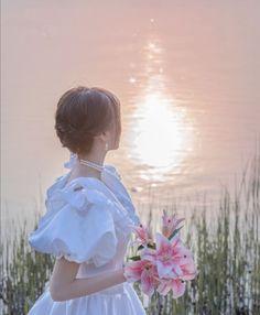 Cute Girl Image, Girls Image, Flower Girl Photos, Flower Girl Dresses, Korean Hair Color, Cute Girls, Photoshoot, Poses, Mood