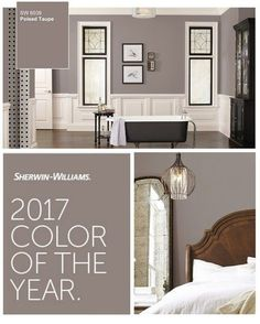 2017 Sherwin Williams Color of the Year. Poised Taupe 2017 Sherwin Williams Color of the Year. Interior Paint Colors, Paint Colors For Home, Basement Paint Colors, Interior Design, Most Popular Paint Colors, Paint Colors For Living Room, Livingroom Paint Ideas, Interior Painting Ideas, Popular Bedroom Colors
