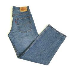 7a6cf12957c8 Levi s 550 Relaxed Fit Jeans Boys Size 12 Regular 26W 26L Blue 100% Cotton  BTS