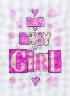 Baby Girl Counted Cross Stitch Kit