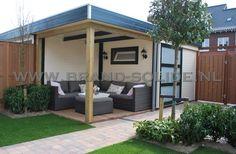 Modern tuinhuis plat dak 300 x 250 overkapping 300 ()