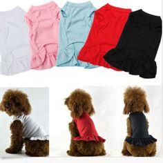 Novo-Animal-De-Estimacao-Cachorro-Cao-pequeno-animal-de-estimacao-Gato-Vestido-Roupas-Colete