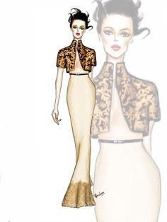 Couture dress illustration