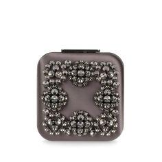 Manolo Blahnik Hangi Dark Grey Crystal Silk Clutch ($1,685) ❤ liked on Polyvore featuring bags, handbags, clutches, grey, gray purse, clasp purse, crystal handbags, crystal clutches and clasp handbag