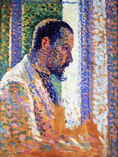 dappledwithshadow: Portrait of Paul Signac Maximilien Luce - circa 1890 Georges Seurat, Paul Signac, Paul Gauguin, Camille Pissarro, Henri Matisse, Figure Painting, Painting & Drawing, Maximilien Luce, France Art