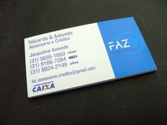 Cliente: Faz Assessoria e Crédito (Verso) - Cartão Couché 300g