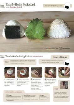 At a Glance for Onigiri / How to Make a Japanese Rice Ball