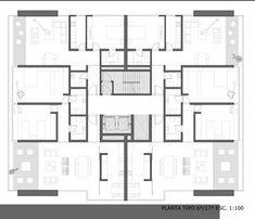 D03 Duplex House Plans, Apartment Floor Plans, Architecture Plan, Residential Architecture, Craftsman Floor Plans, Architectural Floor Plans, Floor Plan Layout, Apartment Layout, Architect Design
