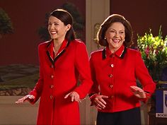 """Gilmore Girl...Photo from the Gilmore Girl episode that contained the fashion show ( which of course had Emily and  Lorelai dressed similar )        TV Wedding Party Moment: """"Gilmore Girls"""""""